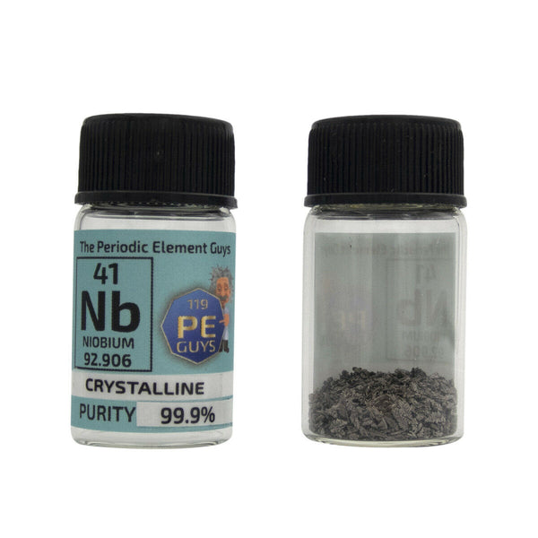 Niobium Metal Element Sample - 5g Crystals - Purity: 99.99% - The Periodic Element Guys