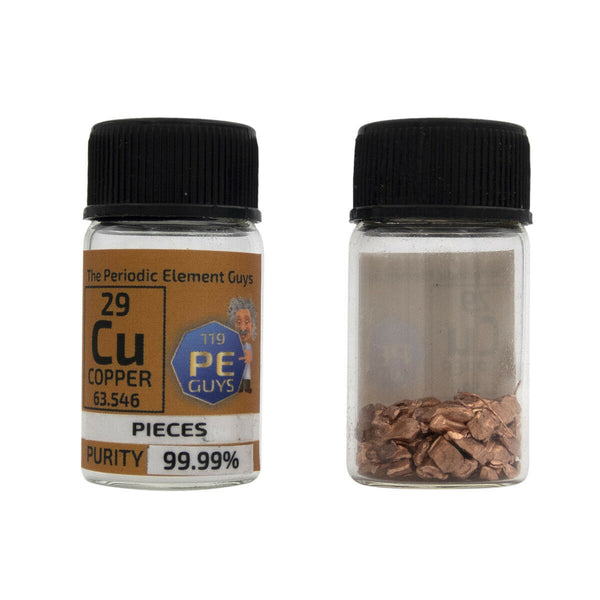 Copper Metal Element Sample - 10g Pellets - Purity: 99.99% - The Periodic Element Guys