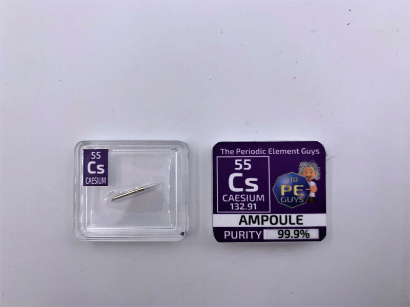 Caesium Metal Element Sample - 15mg Ampoule - Purity: 99.99% - The Periodic Element Guys