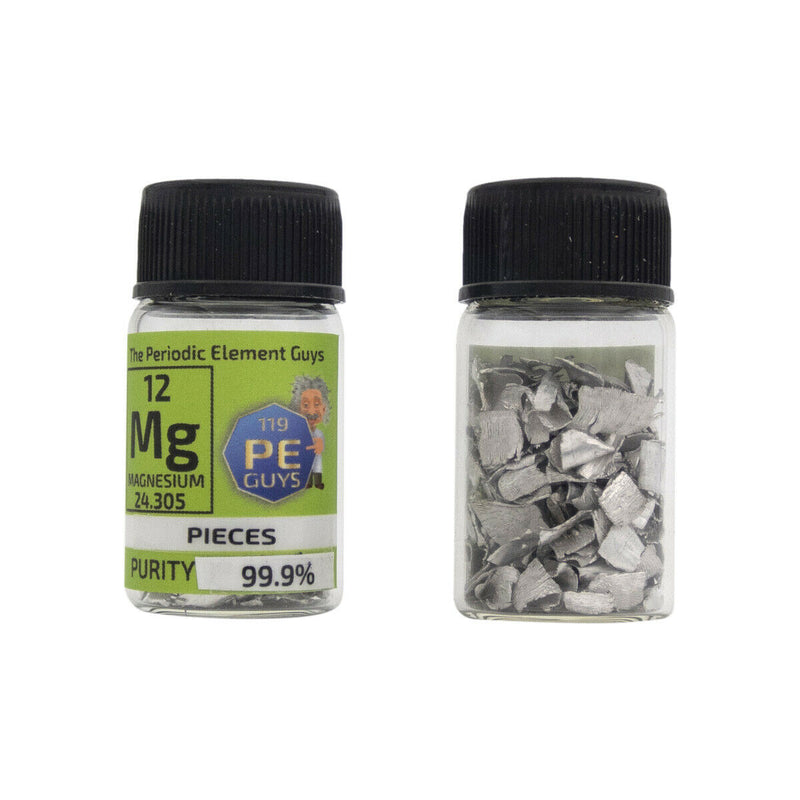 Magnesium Element Sample Pieces - Purity: 99.99% - The Periodic Element Guys