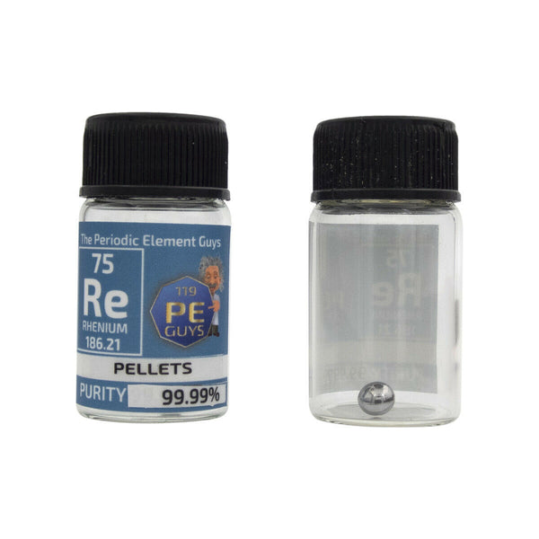 Rhenium Metal Element Sample - 1g Pellets - Purity: 99.99% - The Periodic Element Guys