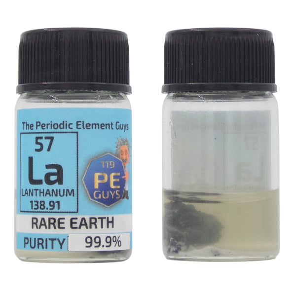 Lanthanum Rare Earth Element Sample - 2g Pieces - Purity: 99.99% - The Periodic Element Guys