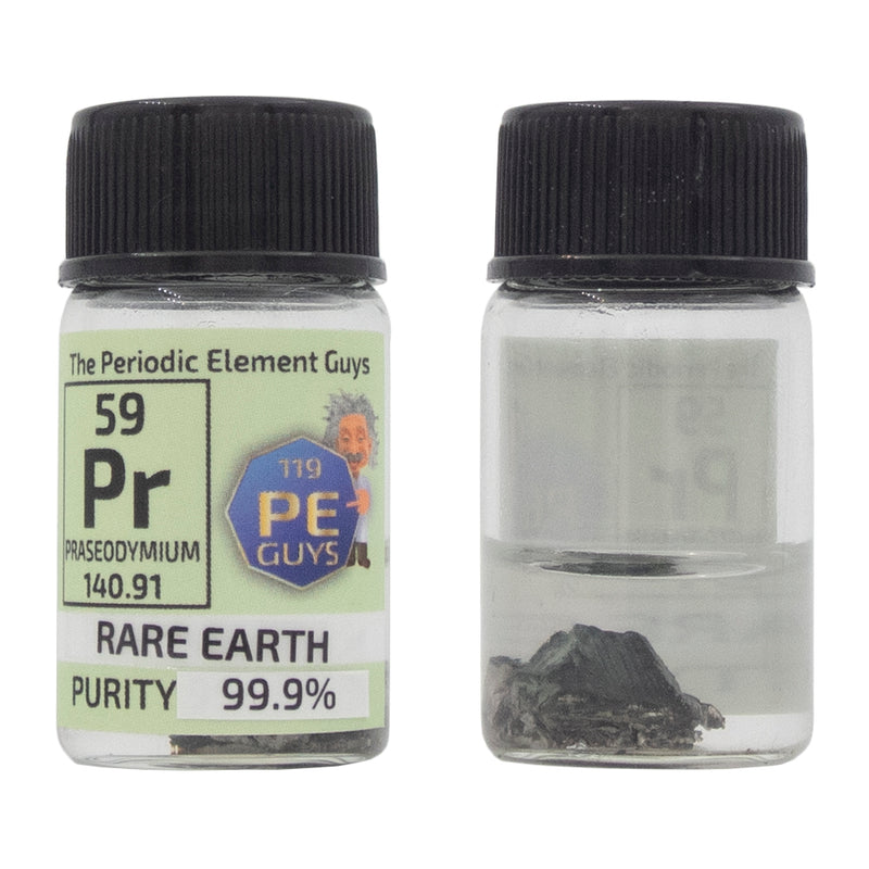 Praseodymium Rare Earth Element Sample - 2g Pieces - Purity: 99.99% - The Periodic Element Guys