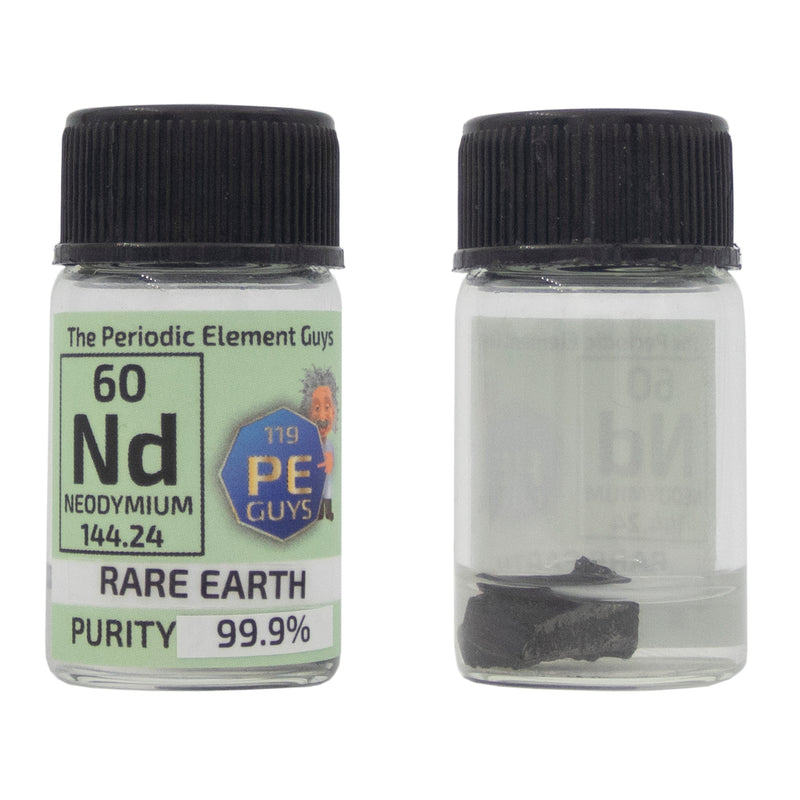 Neodymium Rare Earth Element Sample - 2g Pieces - Purity: 99.9% - The Periodic Element Guys
