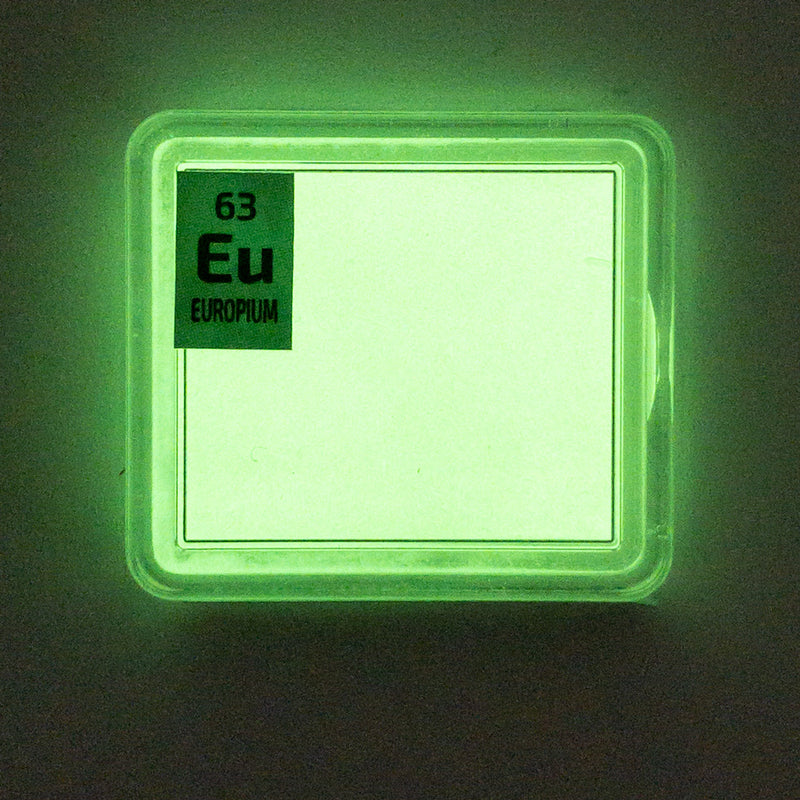 Europium Powder Periodic Element Tile - The Periodic Element Guys