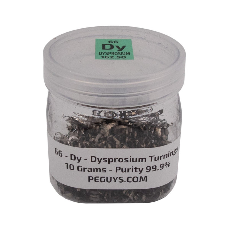 10 Grams 99.9% Dysprosium Metal Turnings In Jar Element Dy Sample Rare Earth - The Periodic Element Guys