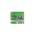 Ytterbium Distilled Dentritic Metal Pieces Periodic Element Tile 99.9% Pure - The Periodic Element Guys
