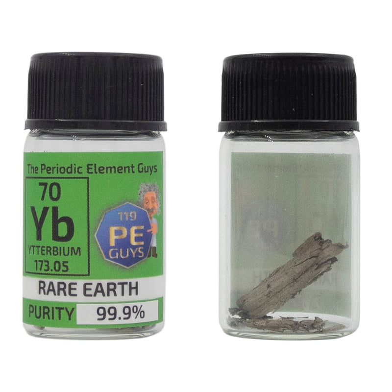 Ytterbium Distilled Element Sample - 2g Rare Earth - Purity: 99.99% - The Periodic Element Guys