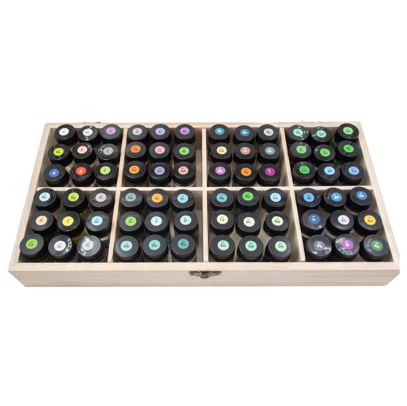 Chemistry Element Set Including 72 Periodic Table Samples in a Labeled PEGUYS Glass Vials - The Periodic Element Guys