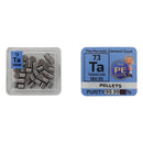 Tantalum Metal Pellets 10 grams 99.99% Element Sample In A PEGUYS Periodic Element Tile - The Periodic Element Guys