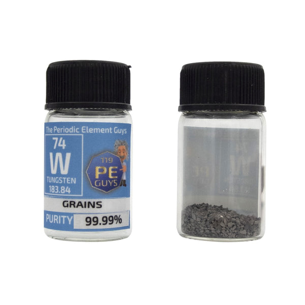 Tungsten Metal Element Sample - 10g Grains - Purity: 99.99% - The Periodic Element Guys
