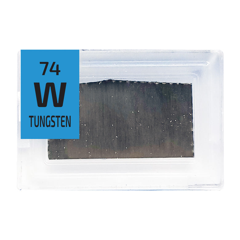 Tungsten Foil Periodic Element Tile - Small - The Periodic Element Guys