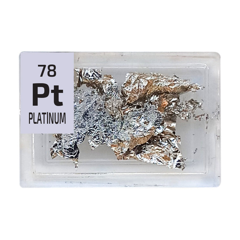 Platinum Foil Periodic Element Tile - Small - The Periodic Element Guys