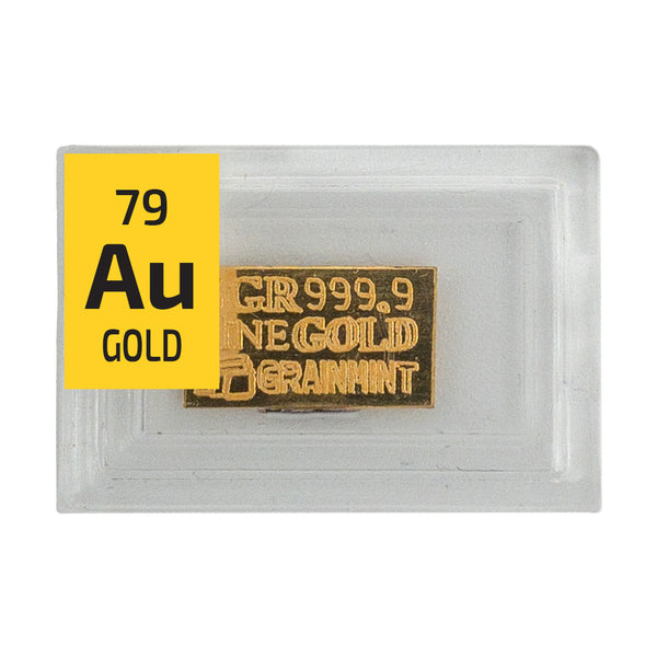 Gold Ingot 5 Grain Periodic Element Tile - The Periodic Element Guys