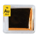 Gold Metal Foil Sample 23.7k Au Gold .971 NASA Surplus heat resistant PEGUYS Periodic Element Tile - The Periodic Element Guys