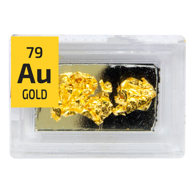 Gold Foil Mirror Backed Periodic Element Tile - Small - The Periodic Element Guys
