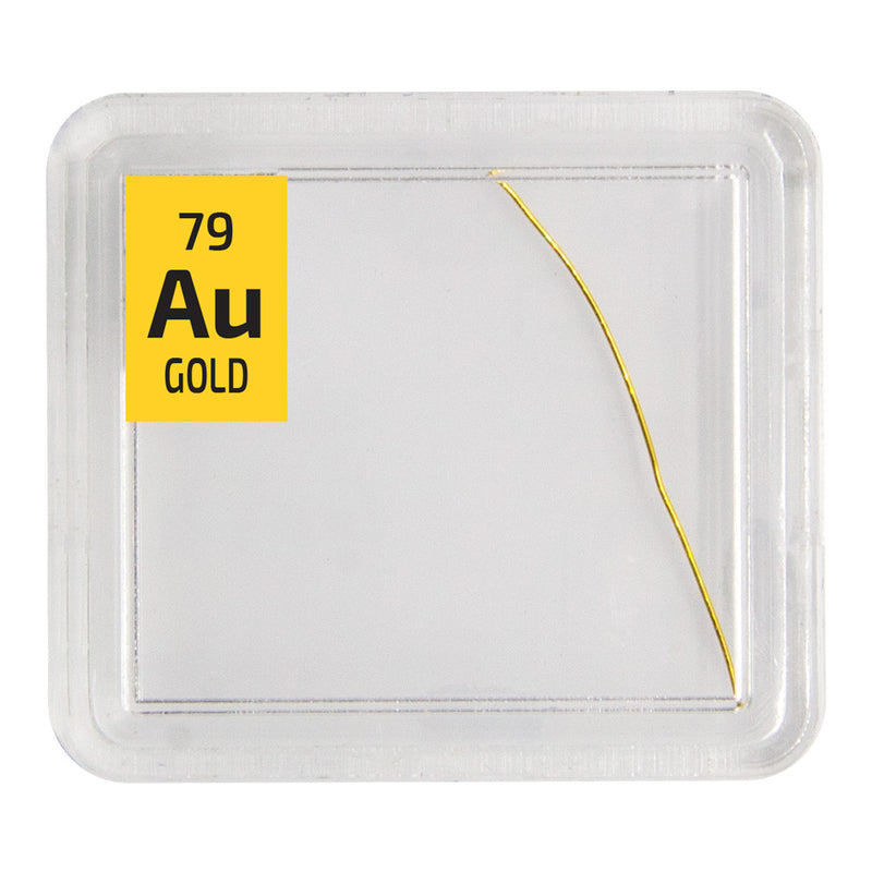 Gold Wire Periodic Element Tile - The Periodic Element Guys