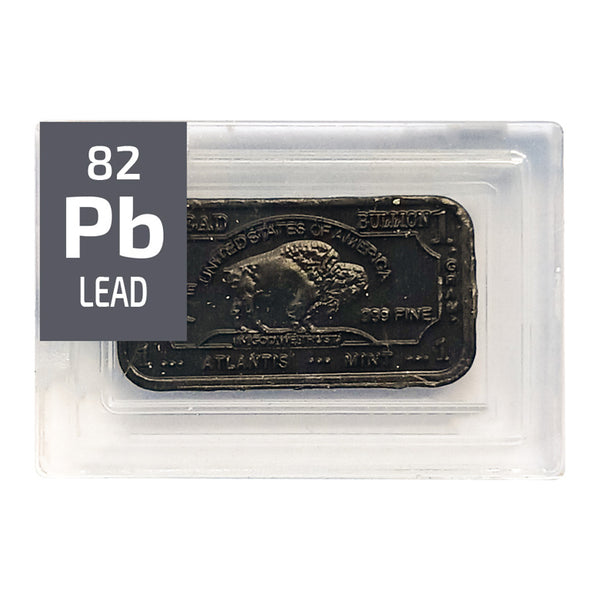 Lead Ingot Periodic Element Tile - Small - The Periodic Element Guys