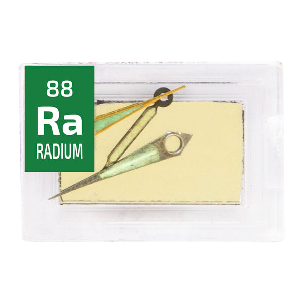 Radium Watch Hands Periodic Element Tile - Small Special Edition - The Periodic Element Guys