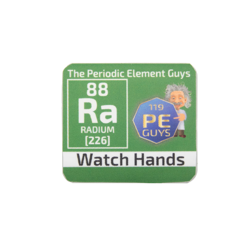 Radium Watch Hands Periodic Element Tile Special Edition - The Periodic Element Guys