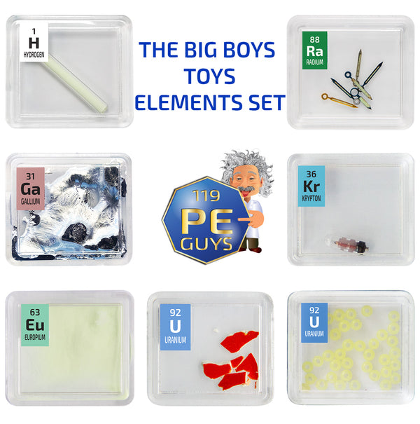 The Big Boys Toys Elements Set 7 x Quality Check Source Periodic Element Tiles - The Periodic Element Guys