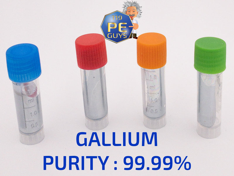 Gallium Metal 99.99% Pure Element Sample - The Periodic Element Guys