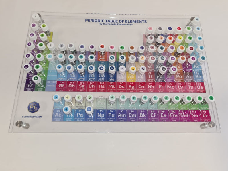 82 periodic table Element Tile Samples Full Colour Vial interactive Display Periodic Table - The Periodic Element Guys