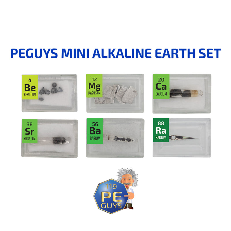6 x Alkaline Earth Element Sample Set - The Periodic Element Guys