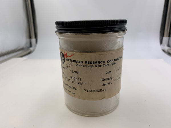 Materials Research Corporation Nickle/Iron Evaporation Pellets 300 Grams - The Periodic Element Guys