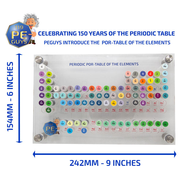 PEGUYS Por-Table Of The Elements - The Periodic Element Guys