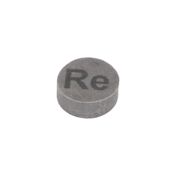 Rhenium Metal 34 Grams + Disk Ingot 99.99% 4 Pure Periodic Table Sample - The Periodic Element Guys