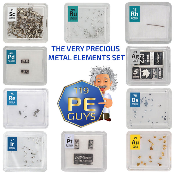 The Very Precious Metal Elements Set - The Periodic Element Guys
