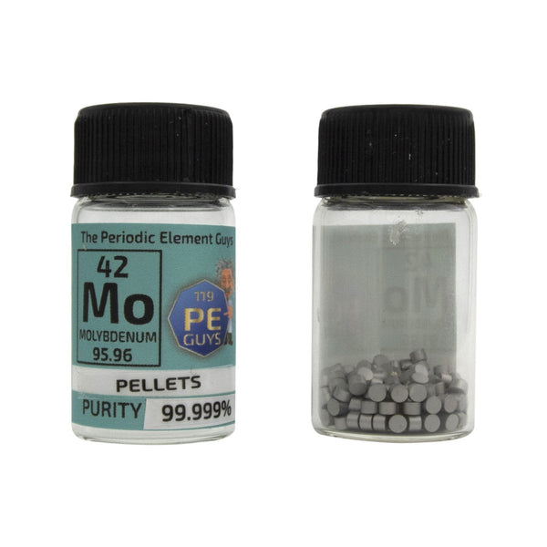 Molybdenum Metal Element Sample - 10g Pellets - Purity: 99.999% - The Periodic Element Guys