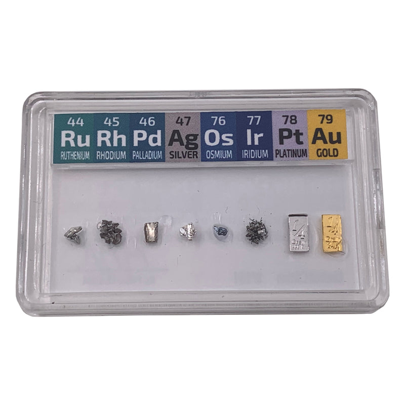 0.50 Grains Micro Precious Metal Set Smallest in the World. - The Periodic Element Guys