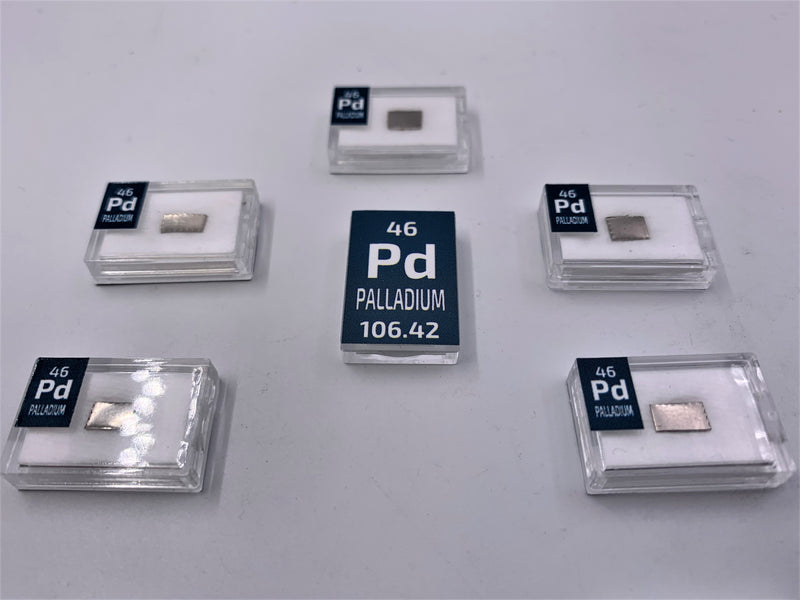 Palladium 1 Grain Ingot Periodic Element Tile - Small - The Periodic Element Guys