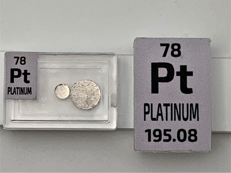 0.1 Gram 99.99% Gold Palladium Platinum Metal Disks Bullion Ingots - The Periodic Element Guys