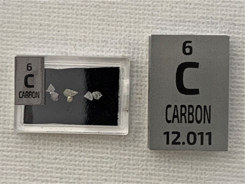 Real Carbon Diamond Set - Special Edition (Small) - The Periodic Element Guys