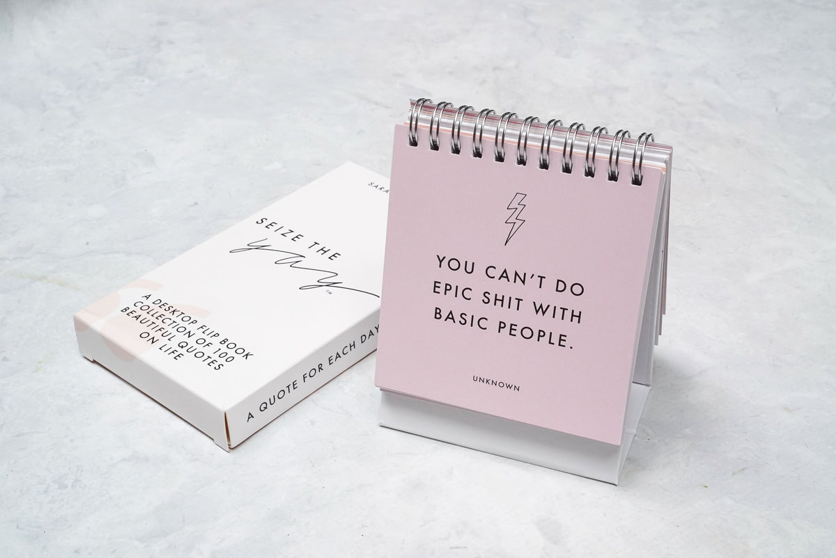 SEIZE THE YAY™ // #QOTD flip book **BACK IN STOCK**