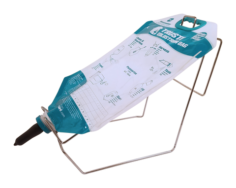 Feeding rack for colostrum bag