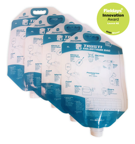 Colostrum Bags x 4 - Reusable NEW