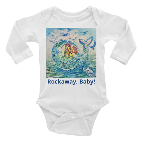 Long Sleeve Rockaway Baby Whalemina Infant Bodysuit
