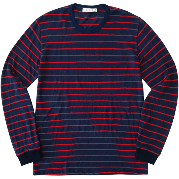 Linen Stripe Long Sleeve