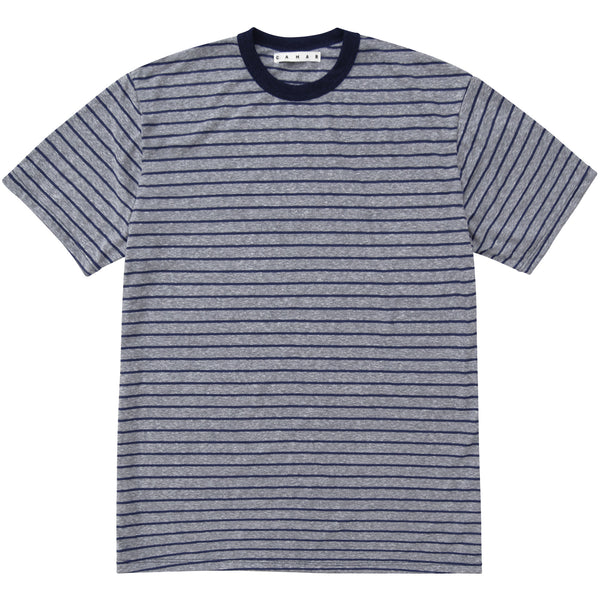 SLUB COTTON DECK-STRIPED TSHIRT