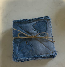 Load image into Gallery viewer, Repurposed Denim Coasters Set of Six OR Set of Four.