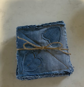 Repurposed Denim Coasters Set of Six OR Set of Four.