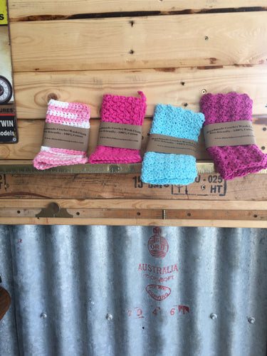 Crochet Wash Cloths - Hand Made, Eco Friendly, 100% Cotton.
