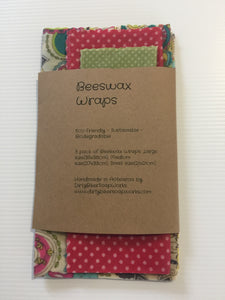 "Beeswax Wraps. The ""Paisley"" set."