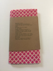 "Beeswax Wraps The ""Pink Flower"" set."