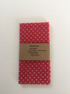 Beeswax Wraps Small Size (Pink Dots)