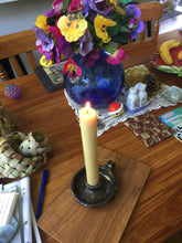 Load image into Gallery viewer, Beeswax Candles Set of Three - 8 inch Pillar.